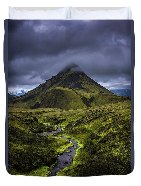 Icelandic Highlands Duvet Cover