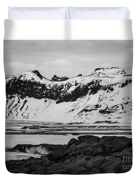 Icelandic Idyll Near Vik Duvet Cover