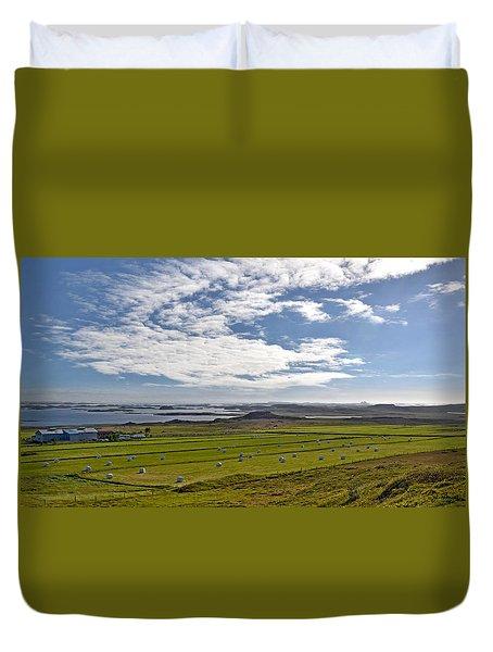 Duvet Cover featuring the photograph Icelandic Panorama by Joe Bonita