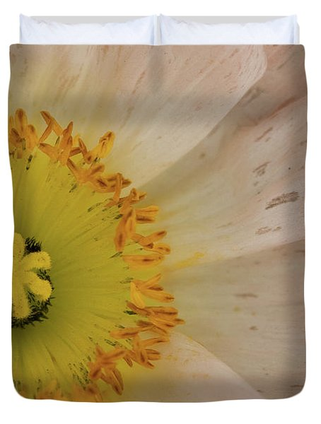 Duvet Cover featuring the photograph Icelandic Poppy by Roger Mullenhour