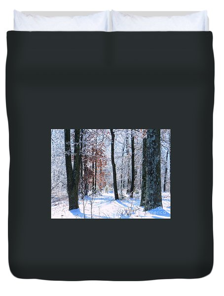 Icey Forest 1 Duvet Cover by Craig Walters