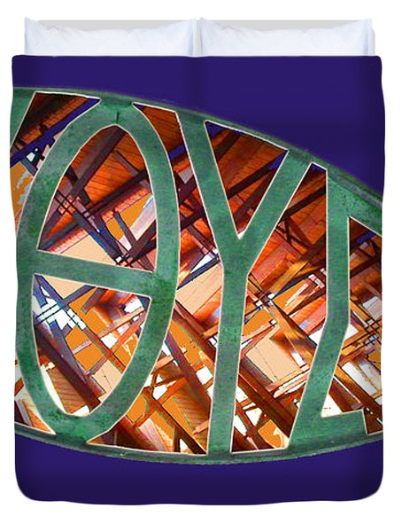 Ichthys Fish Duvet Cover