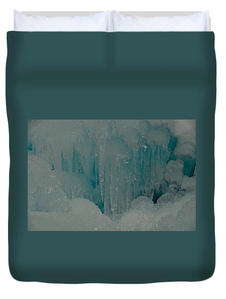 Icicle Blue Beauty Duvet Cover