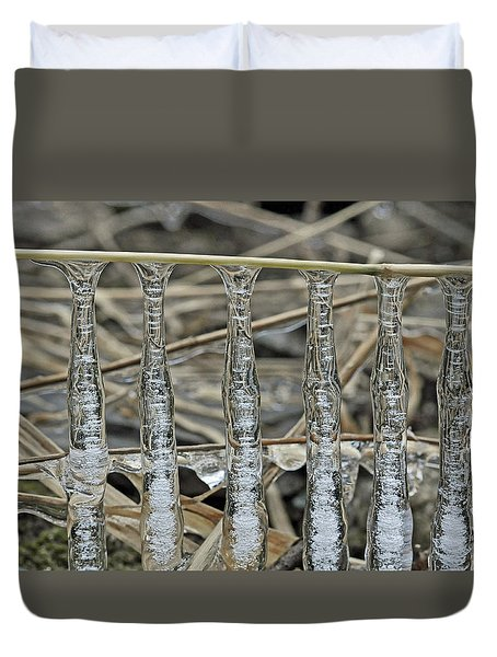 Duvet Cover featuring the photograph Icicles On A Stick by Glenn Gordon