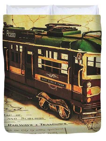 Icon Melbourne Tram Art Duvet Cover