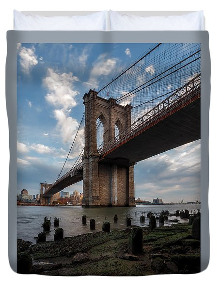 Duvet Cover featuring the photograph Iconic by Anthony Fields