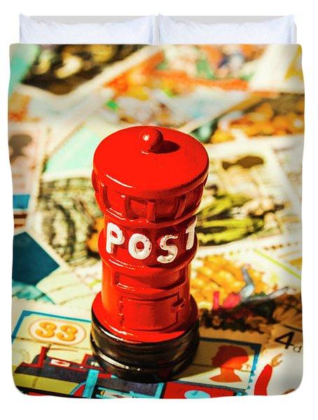 Iconic British Mailbox Duvet Cover