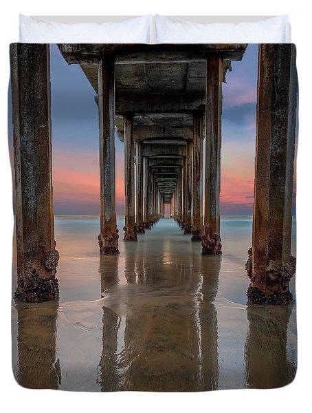Iconic Scripps Pier Duvet Cover