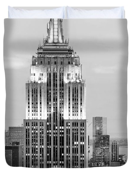 Iconic Skyscrapers Duvet Cover
