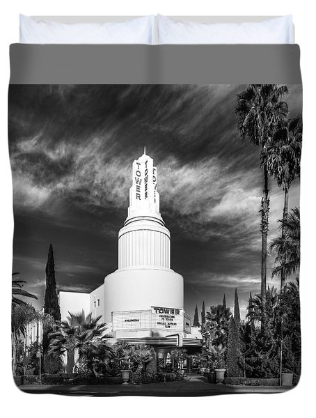 Iconic Tower Theatre Duvet Cover