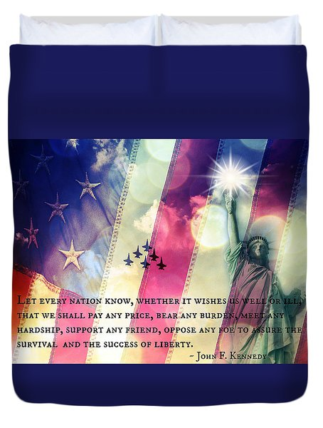 Icons Of Freedom Duvet Cover