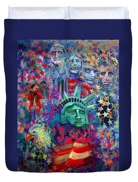 Icons Of Freedom Duvet Cover by Peter Bonk