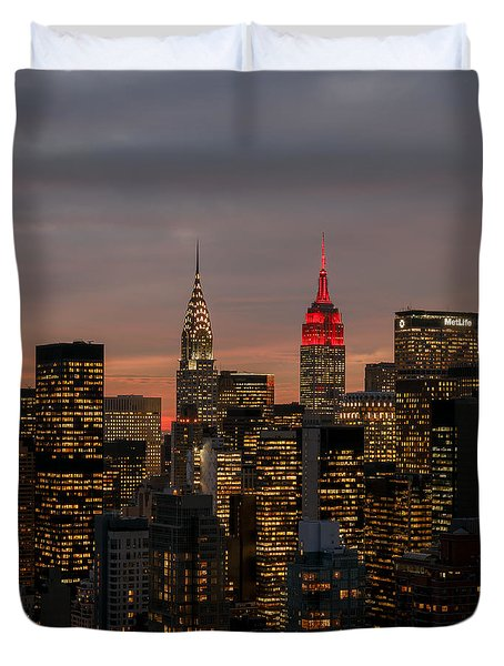Icons Of Nyc Duvet Cover