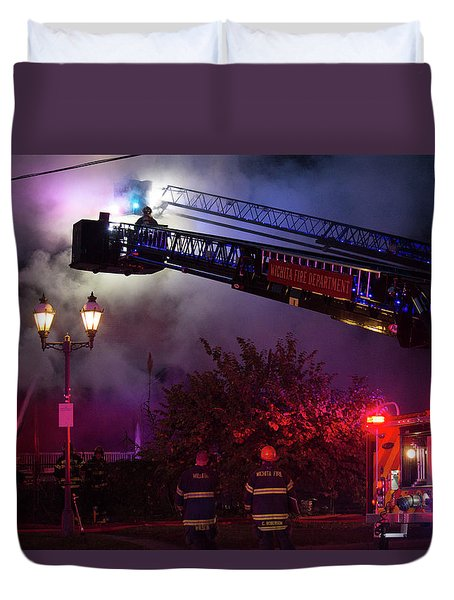 Ict - Burning Duvet Cover