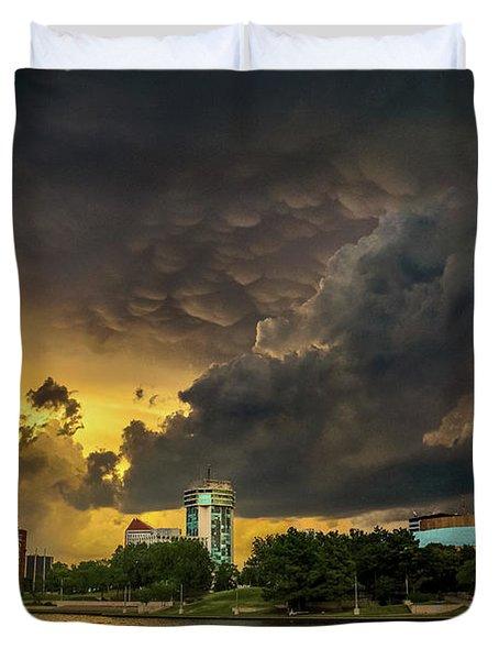 ict Storm - High Res Duvet Cover