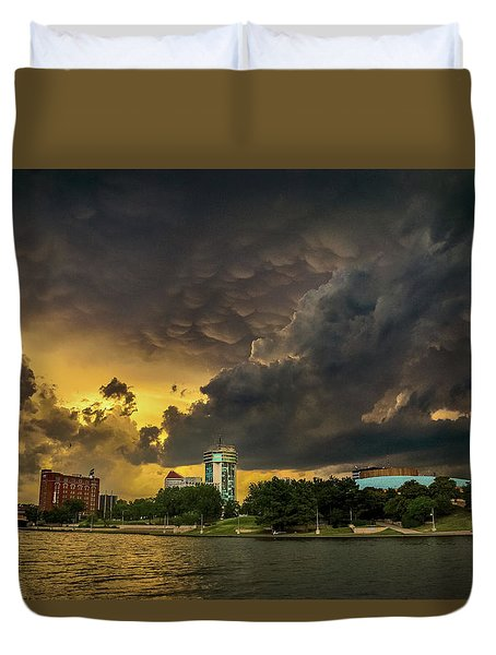 ict Storm - High Res Duvet Cover