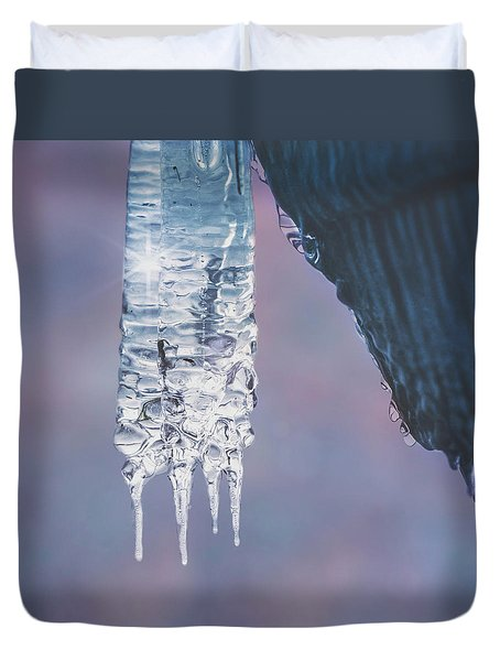 Duvet Cover featuring the photograph Icy Beauty by Ari Salmela