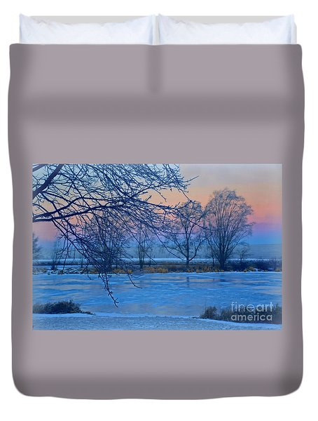 Icy Beauty Duvet Cover