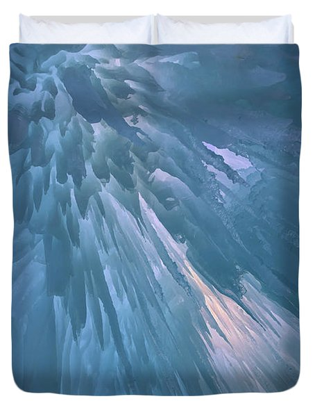 Duvet Cover featuring the photograph Icy Blue by Rick Berk