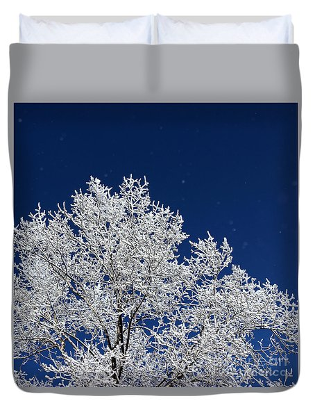 Icy Brilliance Duvet Cover
