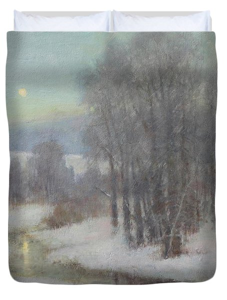 Icy Evening Duvet Cover