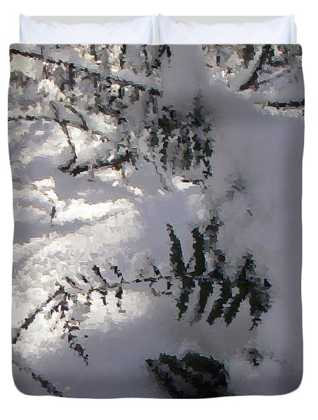 Icy Fern Duvet Cover