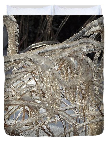 Icy Grass Duvet Cover