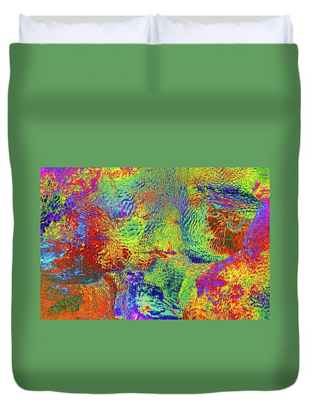 Duvet Cover featuring the photograph Icy Kaleidoscope by Tony Beck