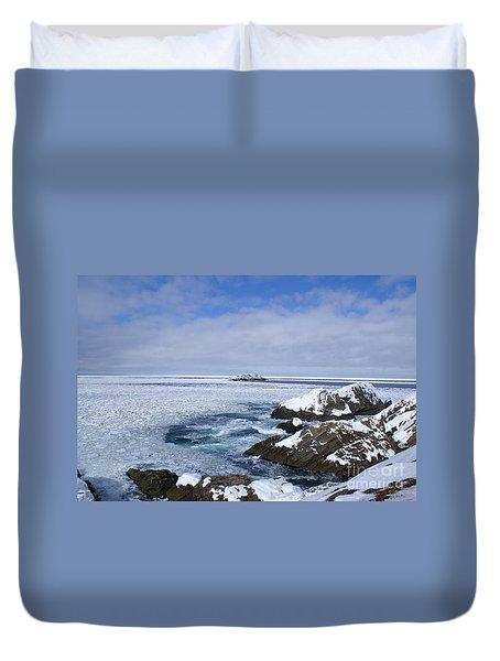 Icy Ocean Slush Duvet Cover