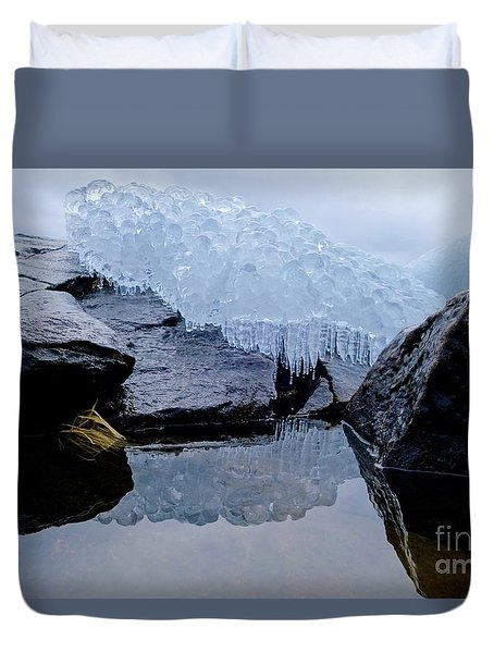 Icy Reflections Duvet Cover by Sandra Updyke