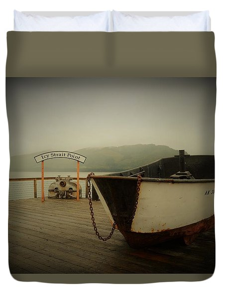 Icy Strait Point Boat Duvet Cover