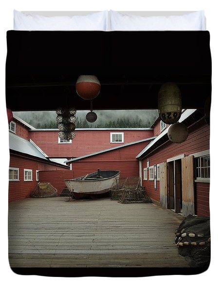 Icy Strait Point Cannery Museum Duvet Cover