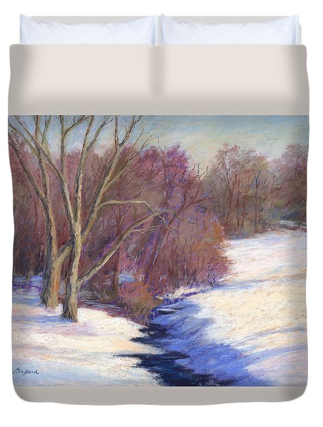 Icy Stream Duvet Cover