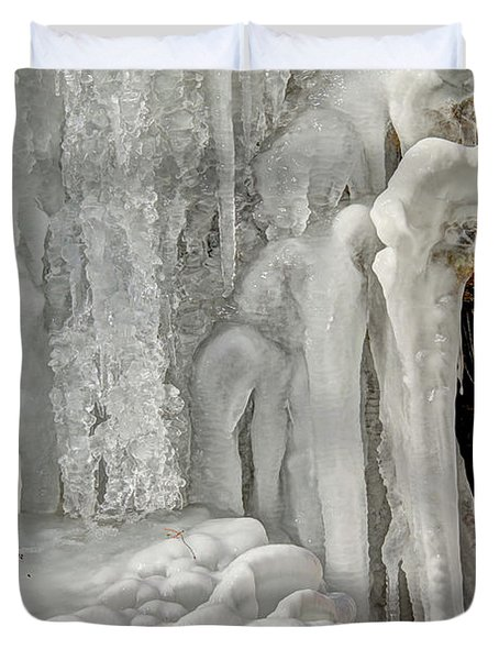 Icy Tendrils Duvet Cover