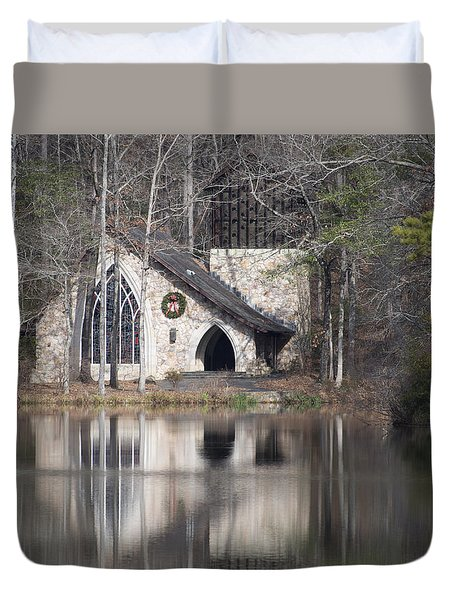 Duvet Cover featuring the photograph Ida Cason Callaway Memorial Chapel by Linda Geiger