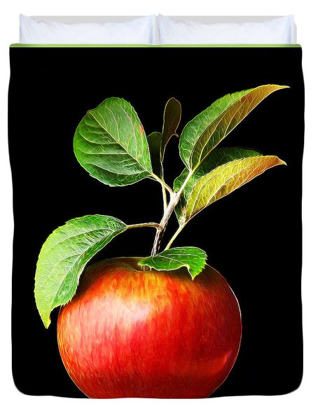Ida Red Apple And Leaves Duvet Cover