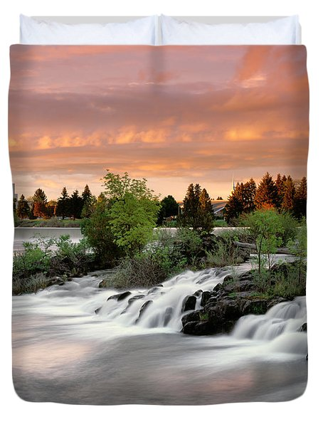 Idaho Falls Duvet Cover