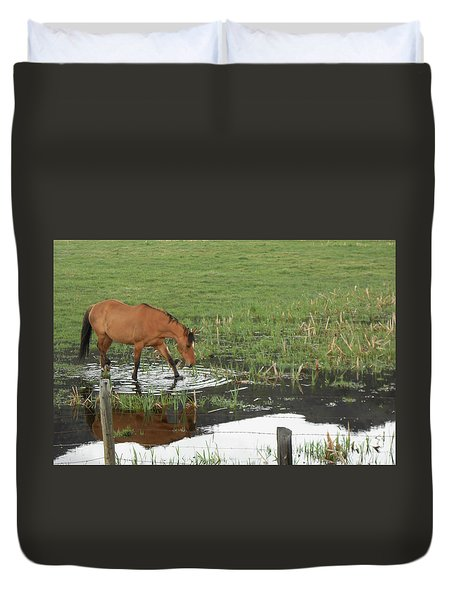 Idaho Farm Horse 2 Duvet Cover