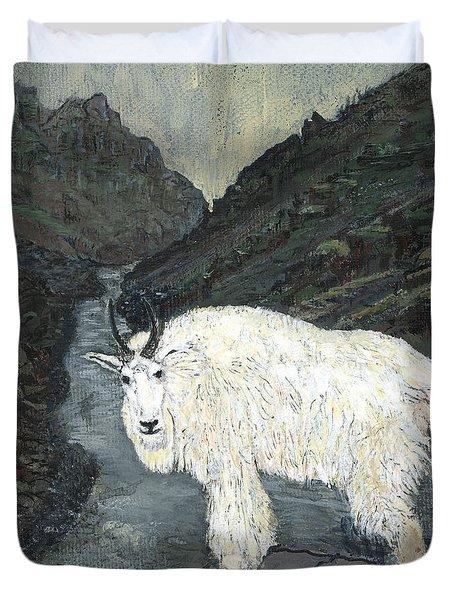 Idaho Mountain Goat Duvet Cover