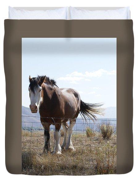 Idaho Work Horse 2 Duvet Cover by Cynthia Powell