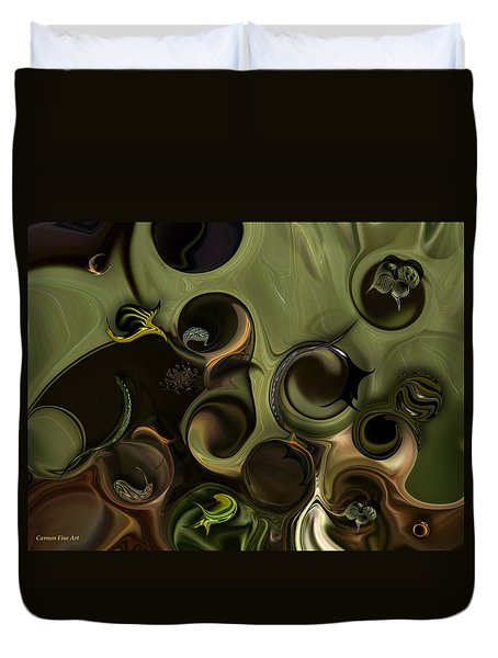 Duvet Cover featuring the digital art Idea And Intensity by Carmen Fine Art