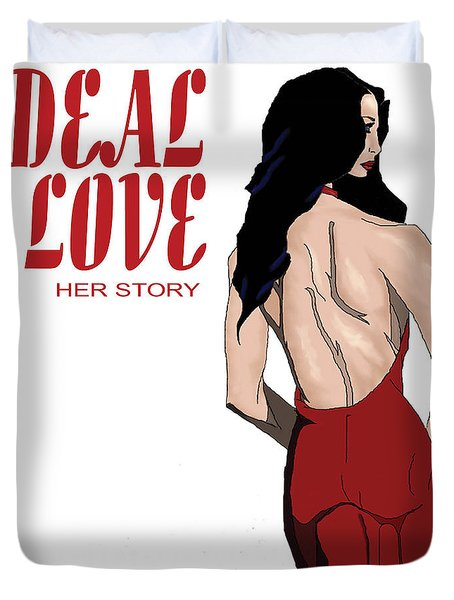 Duvet Cover featuring the digital art Ideal Love Book Cover by Jayvon Thomas