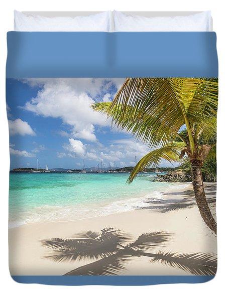 Duvet Cover featuring the photograph Idyllic Salomon Beach by Adam Romanowicz