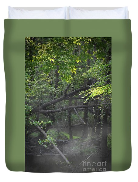 Duvet Cover featuring the photograph If A Tree Falls In The Woods by Skip Willits