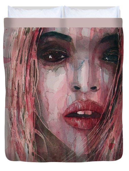 Duvet Cover featuring the painting If I Can Dream  by Paul Lovering