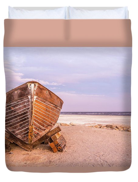 If I Had A Boat Duvet Cover by Peter Tellone
