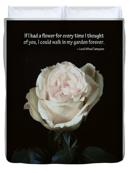 If I Had A Flower Duvet Cover by Renee Trenholm