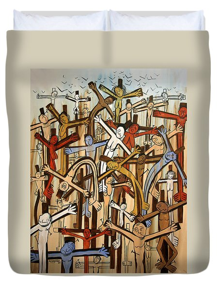 If There Was No Savior Duvet Cover