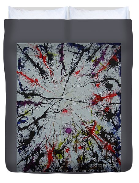 If We Could Just Join Hands Duvet Cover by Stuart Engel