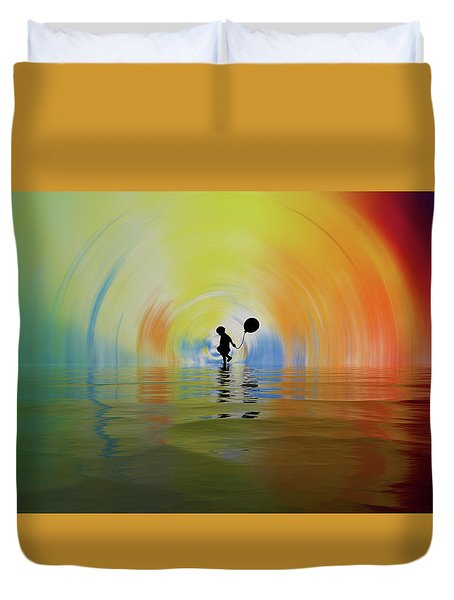 If You Are Reading This... Congratulations... You Are Alive Duvet Cover by Sir Josef - Social Critic -  Maha Art
